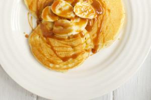 american pancakes toffee sauce
