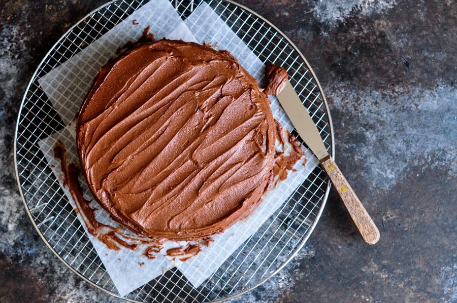 sour cream chocolate cake 4