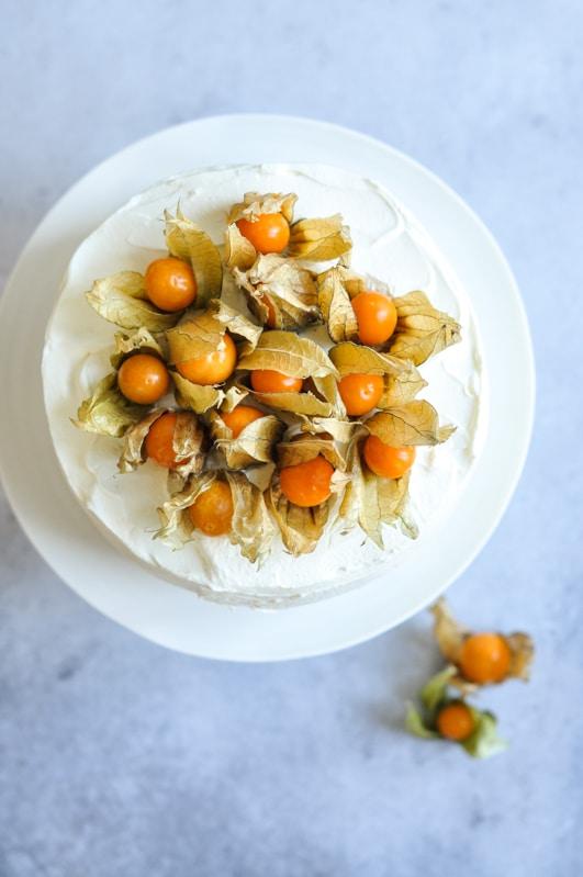 vanilla cake physalis