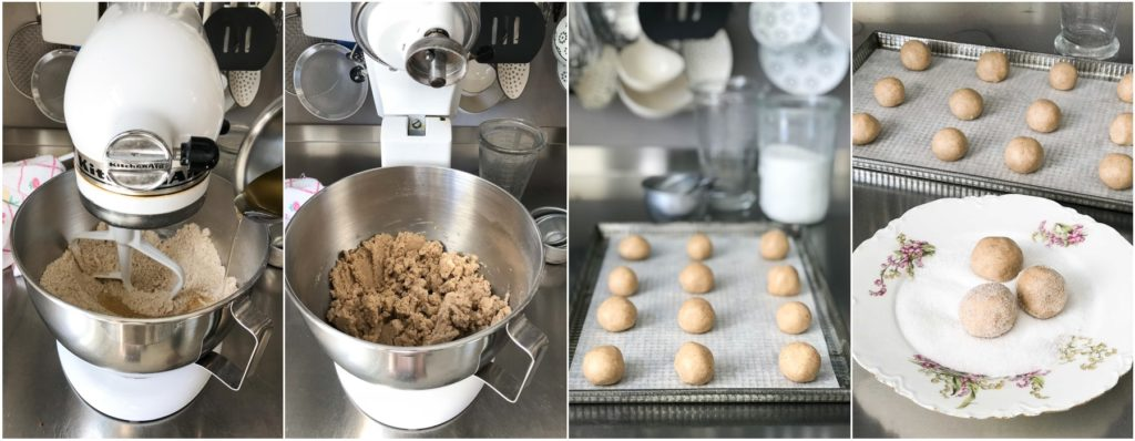 step by step photos for making ginger snap cookies