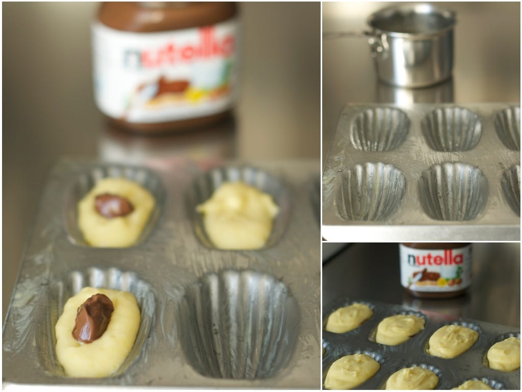 madeleines with nutella step by step photo