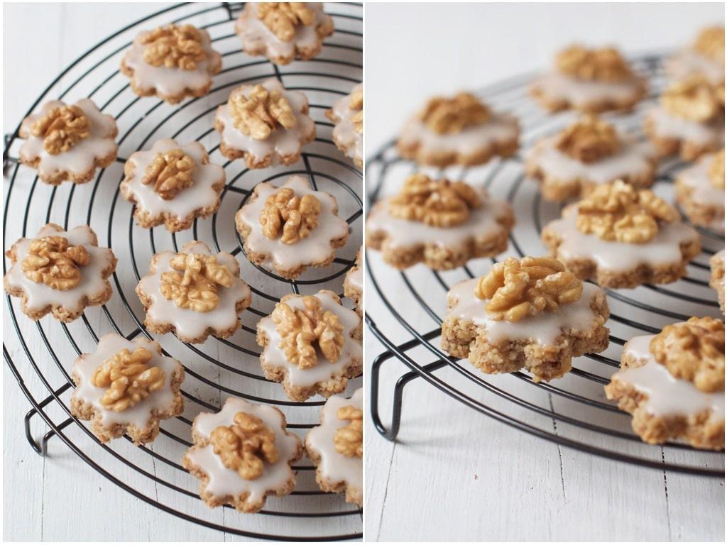 Swiss Walnut Christmas Cookies - Eat, Little Bird