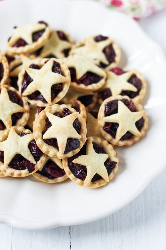 cranberry studded fruit mince pies 2