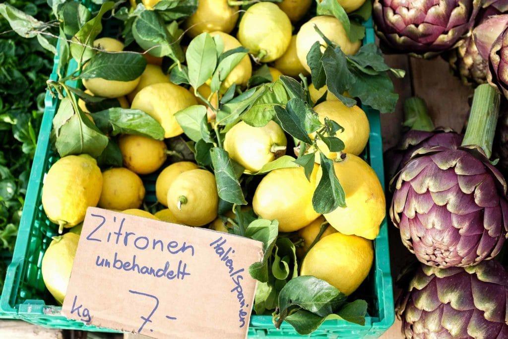 fresh lemons at farmers markets