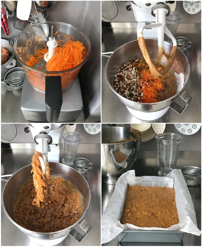 step by step photos for making carrot cake