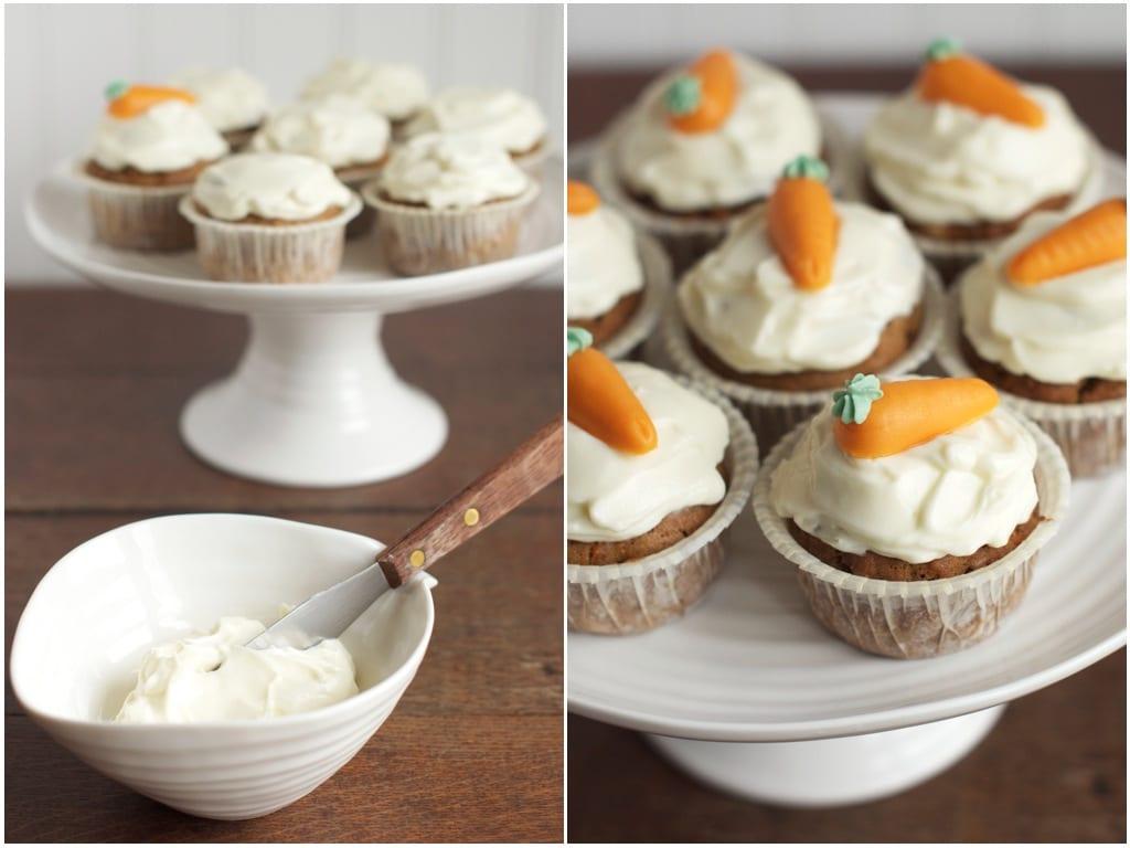 carrot cupcakes process shot
