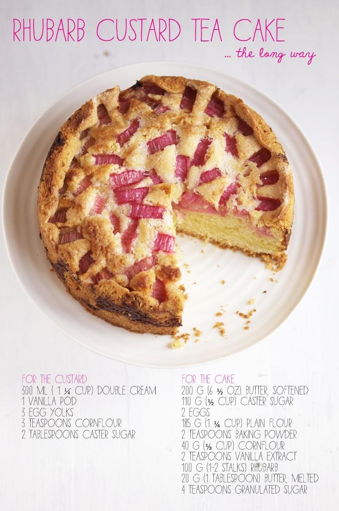 rhubarb custard tea cake ingredients