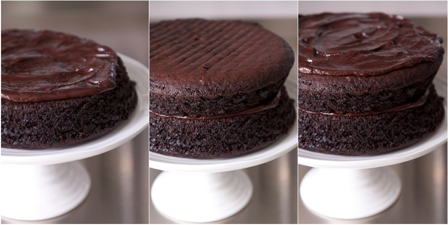 ultimate chocolate cake, step-by-step photos