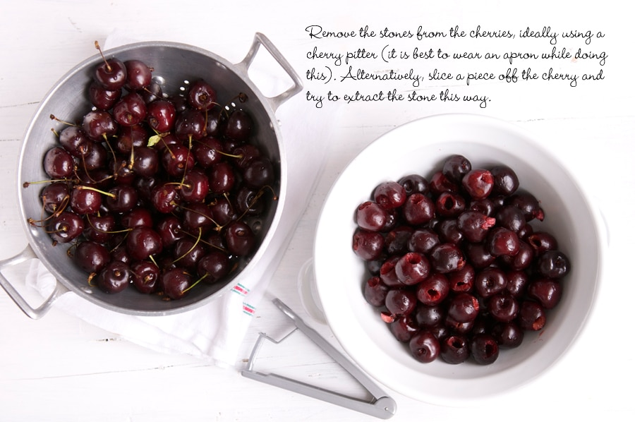 step by step photos for making cherry pie