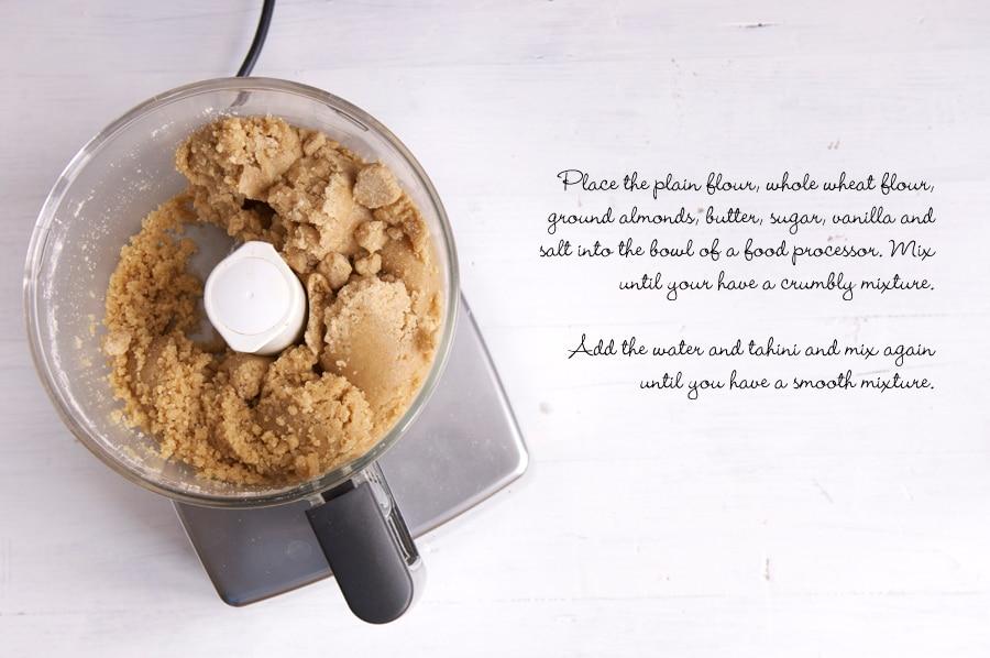 how to make tahini cookies, step by step photos