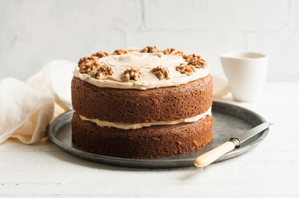 Coffee And Walnut Cake With Step By Step Photos Eat Little Bird