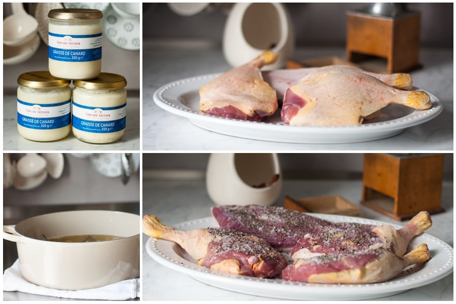 step-by-step photos for making duck confit