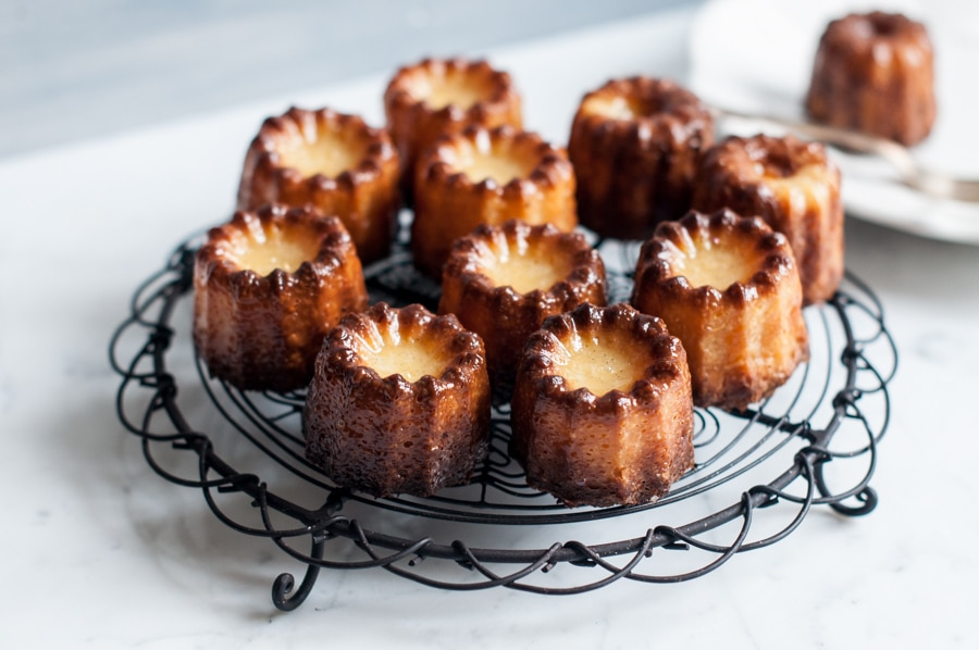canneles on wire rack