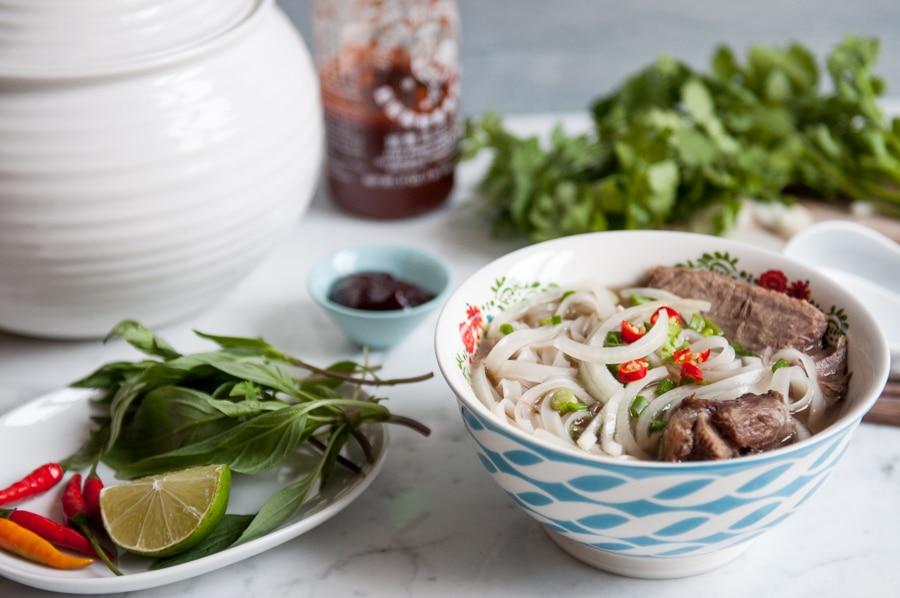 pho beef noodle soup 1