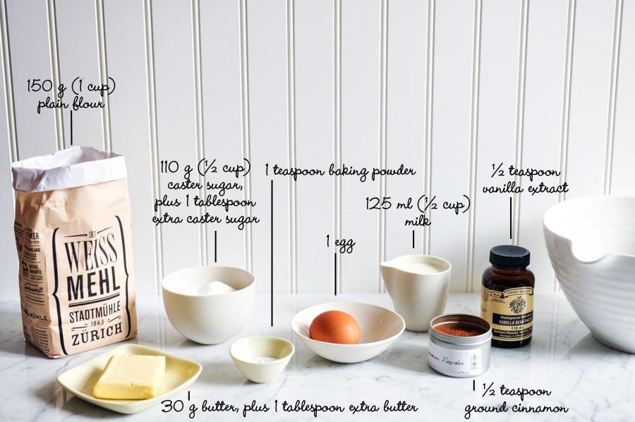 cinnamon tea cake ingredients