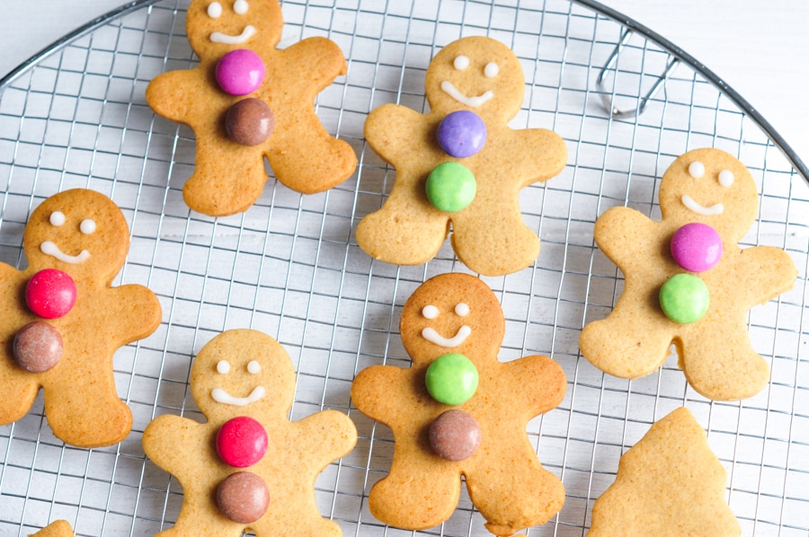 gingerbread men with smarties