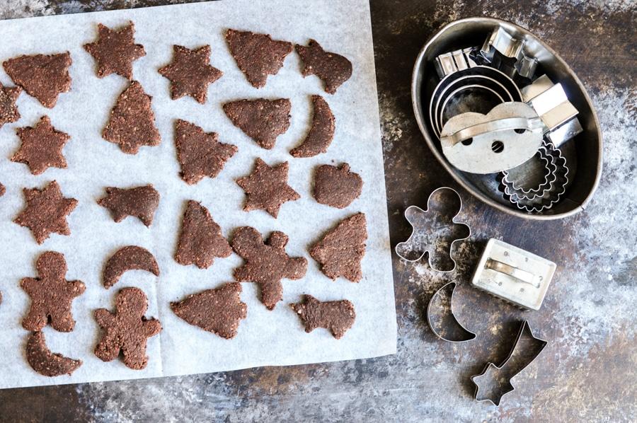 cinnamon chocolate star cookies 4