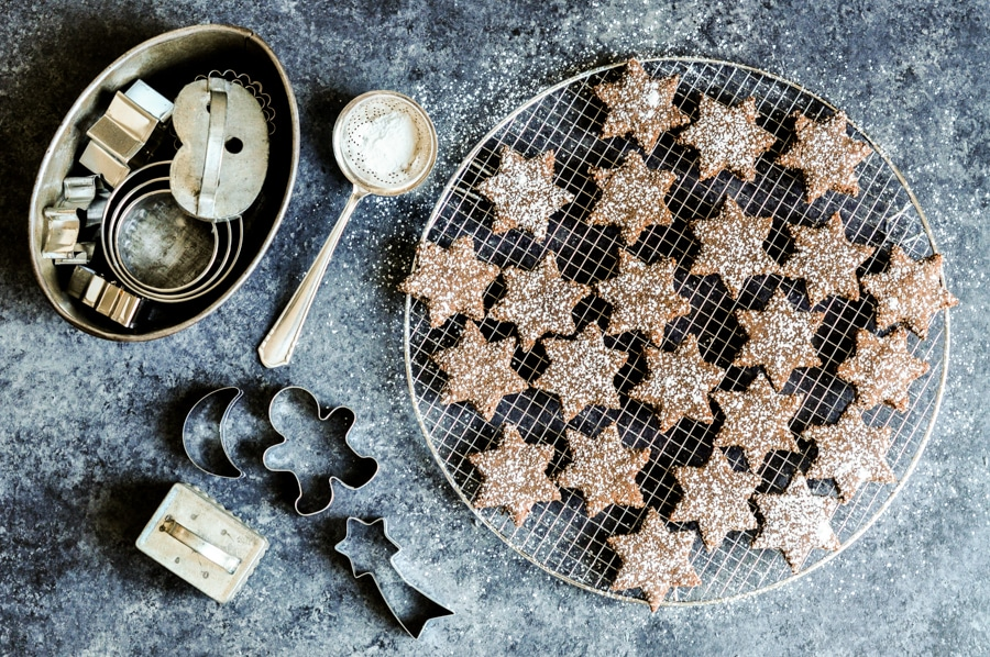 cinnamon chocolate star cookies 5