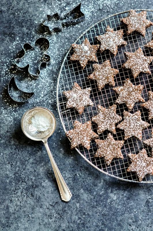 cinnamon chocolate star cookies 6