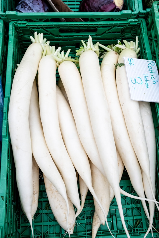 how to eat daikon radishes