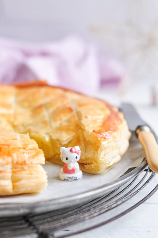 galette des rois with hello kitty feve