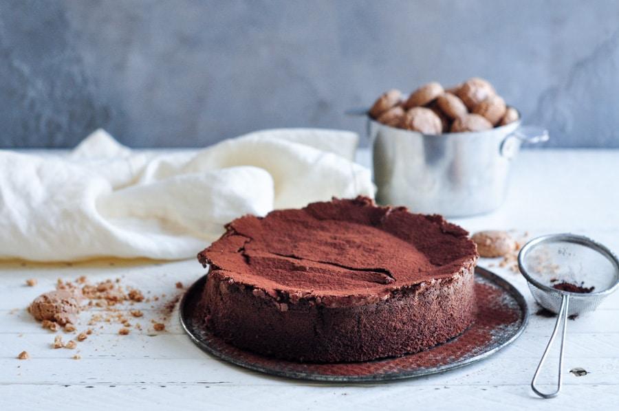 Sunken Chocolate Amaretto Cake Eat Little Bird