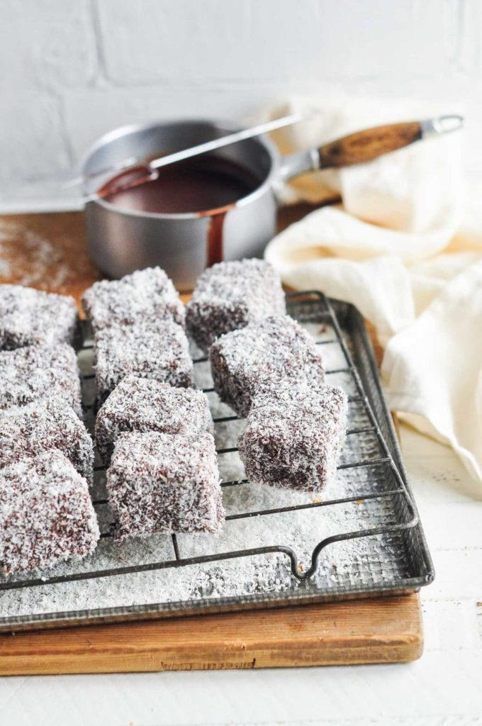 Lamington recipe with step by step photos eat little bird lamingtons on wire rack forumfinder Image collections