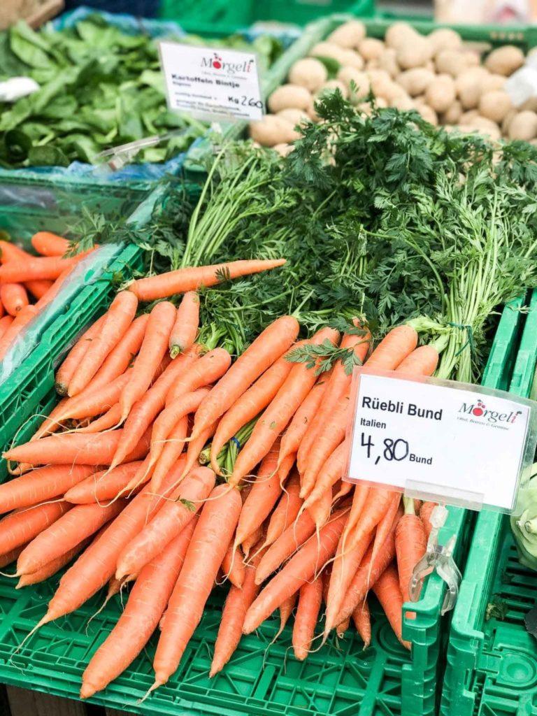 carrots at farmers markets