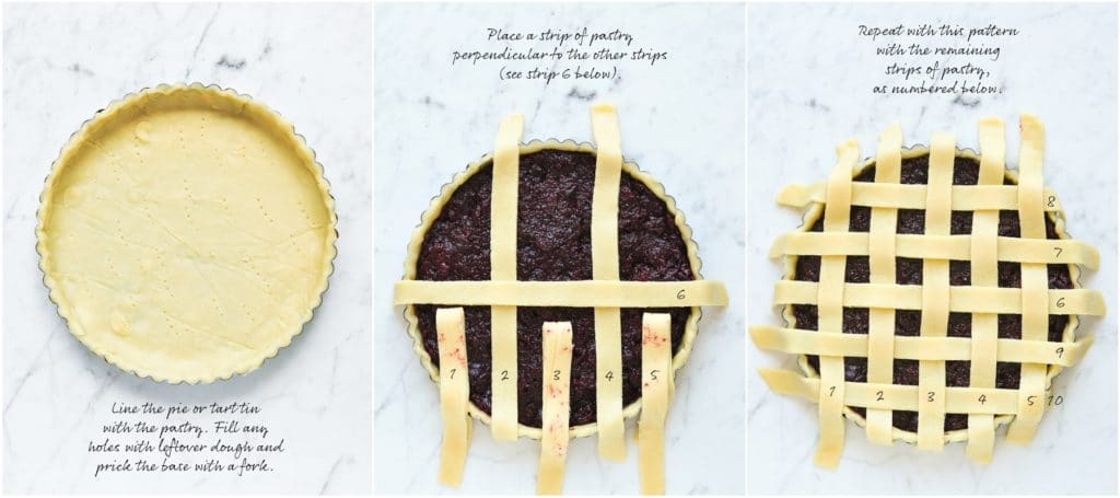 how to make lattice pie crust, step by step photos
