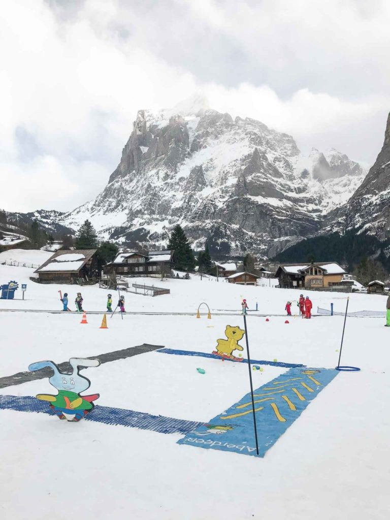 kids skiing area at bodmi grindelwald