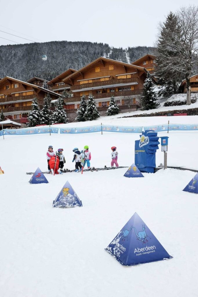 childrens skiing area at bodmi grindelwald
