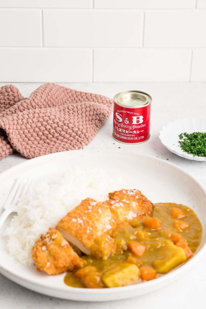 chicken katsu curry with s&b spicy curry powder